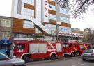 حریق در ساختمان تجاری و خدماتی نارنج اردبیل