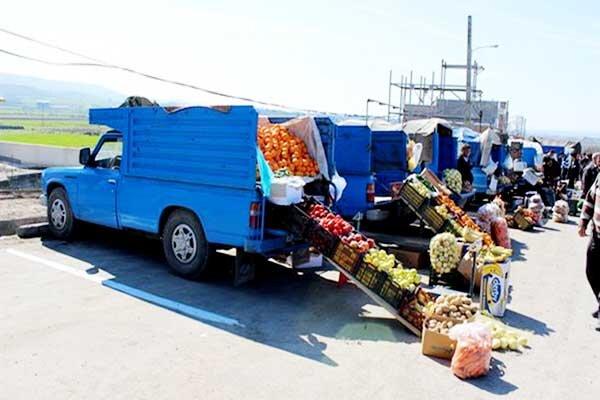ساماندهی وانتبارهای میوهفروش در اردبیل