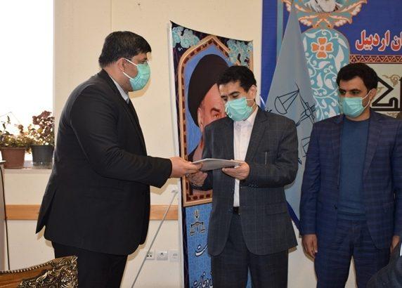 تجلیل رییس سازمان حفاظت محیط زیست از دادستان عمومی و انقلاب مرکز استان اردبیل