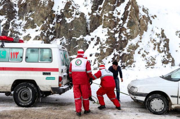 نجات ۱۳۴ نفر از برف و کولاک توسط هلال احمر استان اردبیل