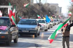 رژه خودرویی بمناسبت ۲۲ بهمن در شهر اردبیل