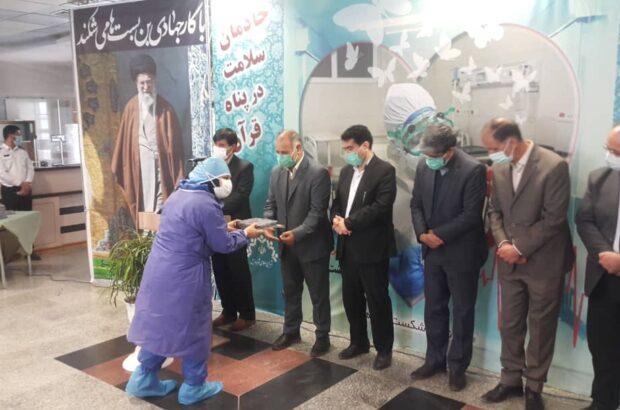 تجلیل از خادمان سلامت با حضور رئیس کل دادگستری استان