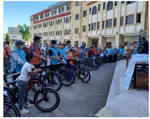 همایش دوچرخه سواری به مناسبت هفته ارتباطات وروز جهانی مخابرات
